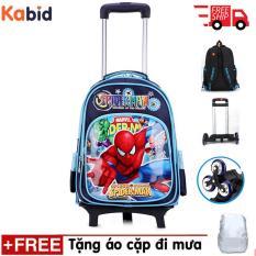 BALO KÉO 6 bánh Kabid -Spider man MSP898 dành cho học sinh tiểu học