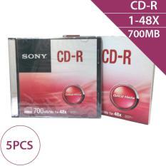 Combo 5 chiếc – Đĩa trắng CD-R 700MB 80min 1-48X Sony CDQ80SS