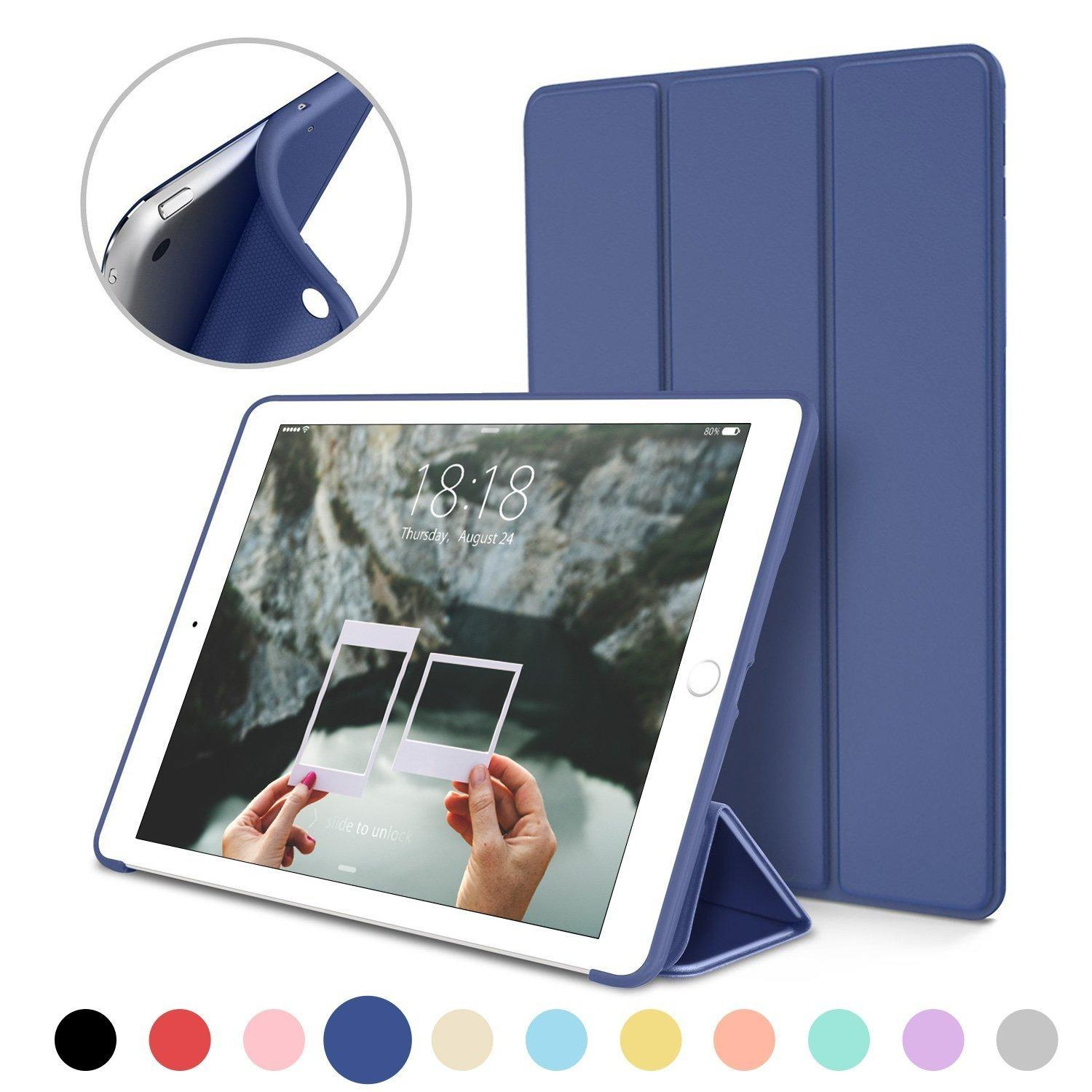 Bao da silicone dẻo - Smart cover dành cho iPad Mini 123/ iPad Mini 4/ iPad Air/ iPad Air 2/...