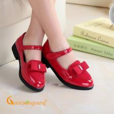 Giày công chúa bé gái đính nơ đỏ giày bé gái đẹp kiểu GLG107