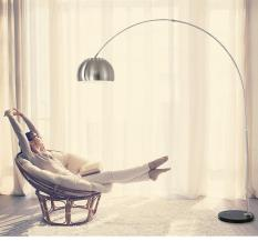 Đèn sàn trang trí phòng khách hiện đại BOW Inox – Tặng kèm bóng LED cao cấp