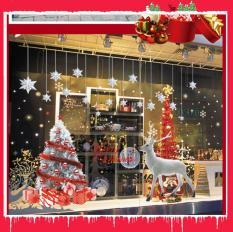Decal trang trí giáng sinh noel-Cây thông Noel và tuần lộc ABQ9707AB decalforchristmas