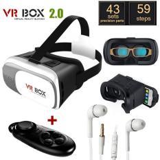 Kính thực tế ảo VR BOX 2 và Tay cầm chơi game tặng tai nghe S4