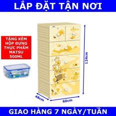 Tủ nhựa Duy Tân MINA 5 tầng Tặng Hộp đựng thực phẩm cao cấp MATSU Duy Tân 500ml