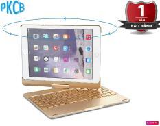 Bàn phím Bluetooth kiêm ốp lưng F180 cho iPad Air 2 xoay 180 độ hỗ trợ đèn LED 7 màu – PKCB