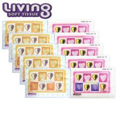 Bộ 10 gói khăn giấy du lịch cao cấp Hàn Quốc Living – loại 70 tờ/gói