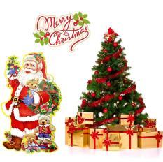 Combo 02 Ông già Noel dán trang trí Giáng Sinh (loại cực đại)