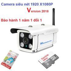 Bao Gia Camera Wifi, Bán camera siêu nét 1920 x 1080p ZS04, Camera Theo Dõi Qua Điện Thoại – Hàng cao cấp nhập khẩu, top 5 mẫu camera chất lượng bán chạy nhất 2018 + Tặng kèm thẻ 16G Ultra Sandick