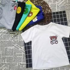 Áo thun cotton in hình thú cho bé