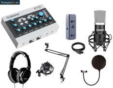 Combo thu âm số 2: Sound card Alctron U16k+ Micro Takstar PCk500+ Tai nghe Takstar HD2000