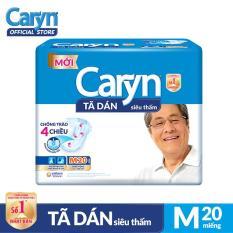 Tã dán Caryn siêu thấm size M 20 miếng