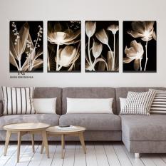 Bộ 4 tranh canvas trang trí phòng khách, phòng an phong cách hiện đại – Khung Hình Phạm Gia PGTK117