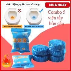 Combo 5 Viên Tẩy Bồn Cầu Khử Mùi – Chất Tẩy Rửa Vệ Sinh Nhà Tắm