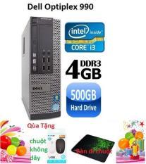 Máy tính để bàn Dell optiplex 990 Core i3 RAM 4GB HDD 500GB, Tặng Chuột không dây chính hãng , bàn di chuột , Bảo hành 24 tháng – Hàng nhập khẩu (Xám)