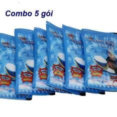 Combo 5 gói tuyết xanh bông bạc ( tuyết nhân tạo cloud slime )