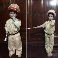 Bộ đồ (công an) cảnh sát giao thông cho bé