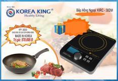Bếp hồng ngoại Korea King KIRC-30DM (Đen phối trắng)