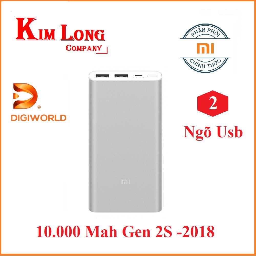 Mua Pin sạc dự phòng Xiaomi 10000 mAh Gen 2S Quick Charge 3.0 – Digiworld phân phối chính thức Tại CÔNG TY KIM LONG