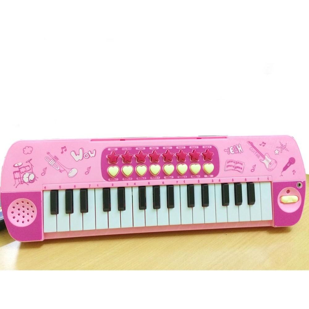 Đàn Piano Mini Có Mic Cho Bé Tập Hát 32 Phím Giá Tốt (Hồng)