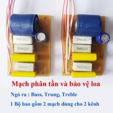 Combo 02 Mạch phân tần và bảo vệ loa, dùng cho loa thùng Karaoke, nghe nhạc …..