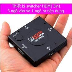 Thiết bị chia tín hiệu HDMI 1080p switcher 3 ngõ vào 1 ngõ ra(Đen)