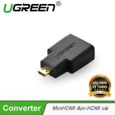 Đầu chuyển đổi micro HDMI (đực) sang HDMI (cái) – UGREEN 20106 – (màu đen)