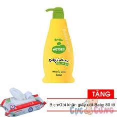 Sữa tắm gội Wesser 500ml – Xanh lá Tặng 1 bịch khăn giấy ướt Baby 80 tờ