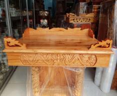 Bàn thờ treo tường gỗ xoan ngang 60 cm