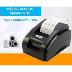 Máy In Hóa Đơn Xprinter 58IIH Khổ Giấy K58 Tặng Kèm 5 Cuộn Giấy In K58