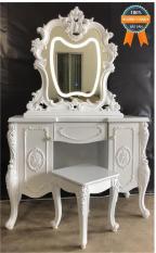 Bàn trang điểm cổ điển có đèn Mina Furniture MN-BP9907-T (1050*500*1500)
