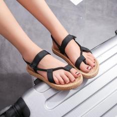 Giày sandal xỏ chiếu da bố đế cối sỉ