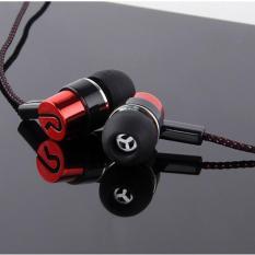 Tai nghe in ear kim loại dây dù chống rối Super Bass (5 màu)