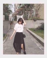 Chân váy dài voan xẻ tà cá tính ( freesize dưới 55 kg)
