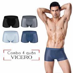 Quần sip xì đùi boxer Nam thông hơi thoáng khí cao cấp – Hộp 4 quần