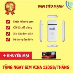 Bộ phát wifi từ sim 3G/4G ZTE MF65 – Phiên bản Maxis ( Trắng )
