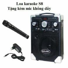 Loa bluetooth daile S8 tặng kèm 1 mic karaoke