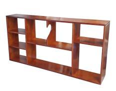 Giá sách treo tường rộng 120cm bằng gỗ (Vàng cánh gián)