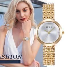 Đồng hồ nữ GUOU Luxury – Viền Trơn Mặt Kính Tráng Shapphire Tinh Tế Thanh Lịch JS-G7406