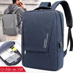Balo laptop 15.6 inch chống sốc, có khe cắm sạc FULARUISHI + Tặng sạc dự phòng