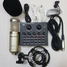 COMBO míc THU ÂM hát LIVESTREAM karaoke micro BM900 SOUND CARD V8 TẶNG TAI NGHE