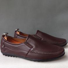 [SALEOFF TRONG 3 NGÀY]ĐẶT HÀNG NGAY! Giày mọi nam nâu da đế đinh