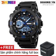 Đồng hồ thể thao nam Skmei 1228 Stopwatch chống nước 50m dây cao su cao cấp