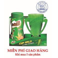 Nestlé MILO® Nguyên Chất dạng bột (Hũ 400 g) – tặng 01 ly hình cúp vô địch