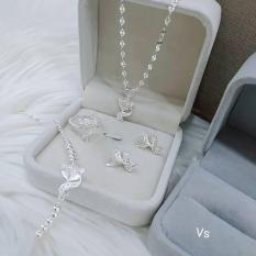 bộ trang sức bạc hồ ly BTS56