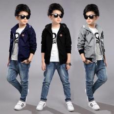 Áo Khoác Trẻ Em 4 đến 10 Tuổi Thời Trang TCFashion QN00286 – 3 Màu Xám Xanh Đen