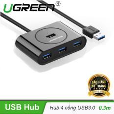 Hub USB 3.0 4 cổng tốc độ 5Gbps UGREEN CR113 dài 30cm 20290 – Hãng phân phối chính thức