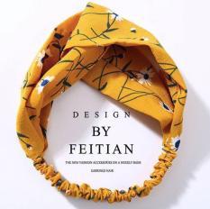 Băng đô turban vải hoạt tiết thời trang