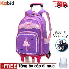 Balo KÉO 6 xe BALLET cho học sinh tiểu học Tặng dụng cụ học tập