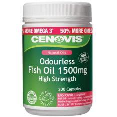 Dầu cá không mùi liều cao Cenovis Odourless 1500mg Fish Oil 200 viên