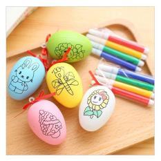 Trứng tô màu + bút màu cho bé